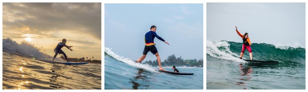Фото серфинга из воды