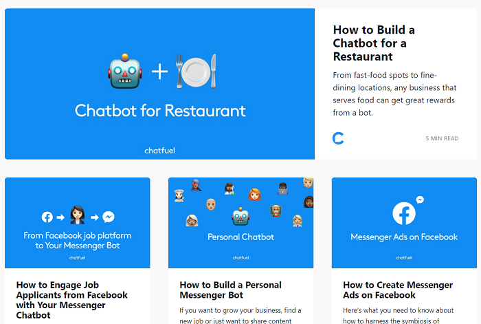 блог сервиса Chatfuel