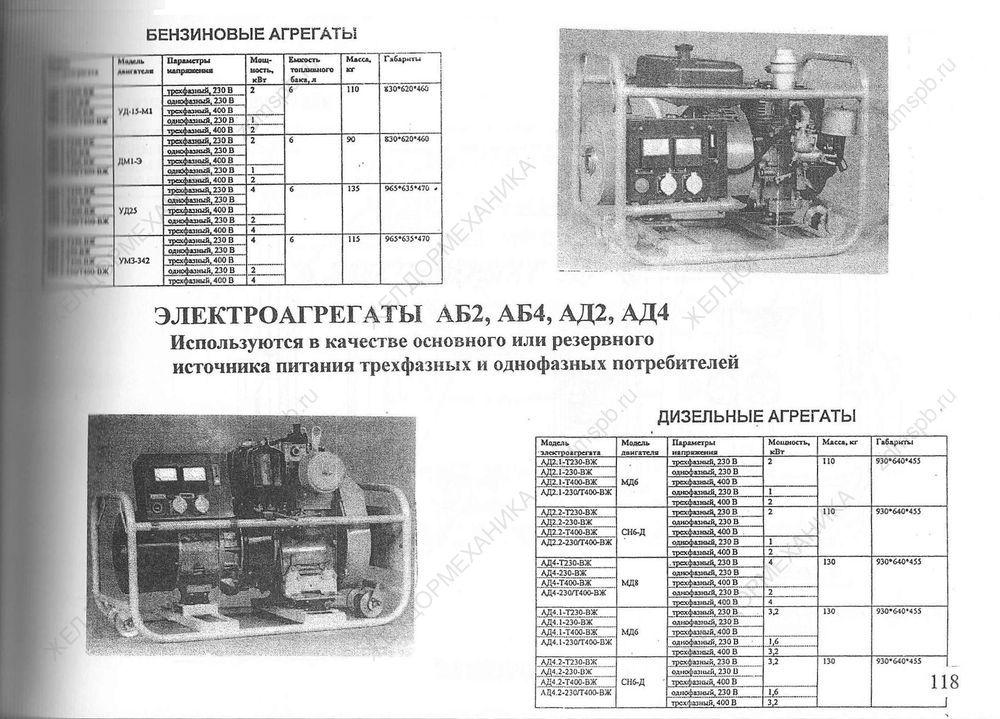 Стр. 118 Электроагрегаты АБ2, АБ4, АД2, АД4