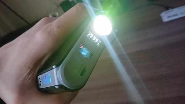 Мощный LED фонарь пускового устройства Aurora Atom 8