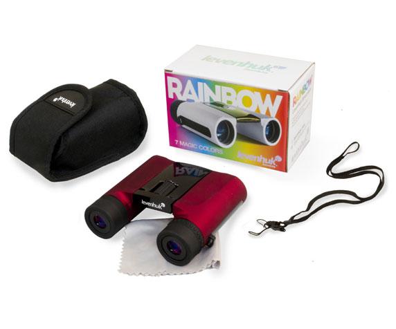 Бинокль Levenhuk Rainbow 8x25 Red Berry: комплект поставки