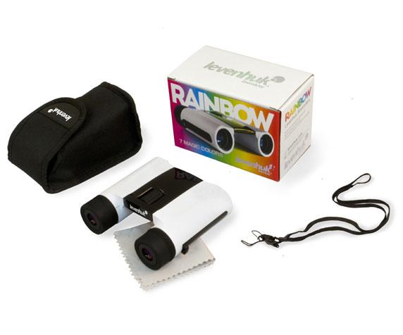 Бинокль Levenhuk Rainbow 8x25 White Snow: комплект поставки