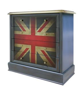 комод роспись британский флаг