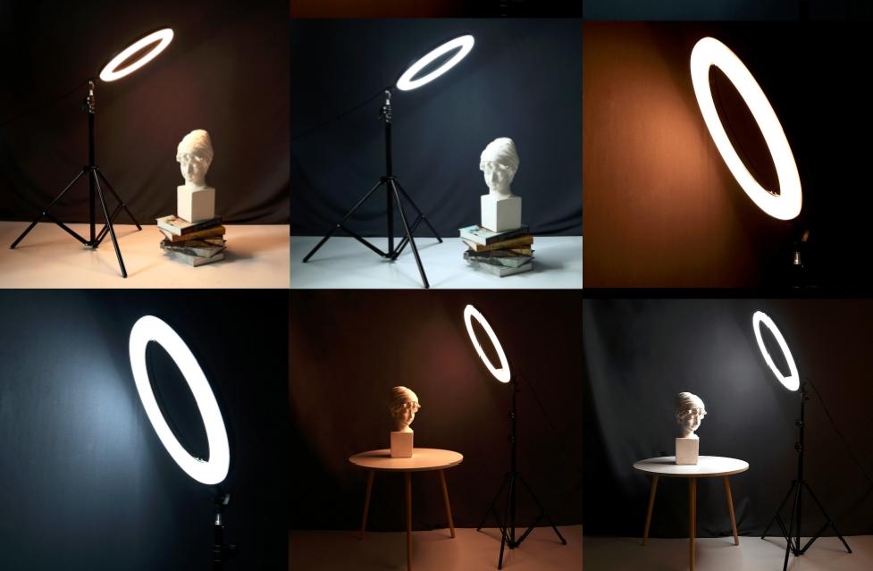 селфи лампа светодиодный кольцевой сетильник ring fill light 36 см на штативе
