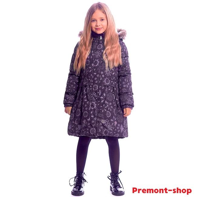 Пальто Premont Черничный Грант WP91353 для девочек в магазине Premont-shop
