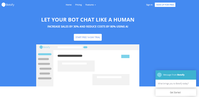 Botsify для создания бота в Facebook Messenger