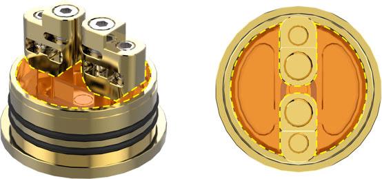 Специальные мостовой дизайн стоек GeekVape Peerless RDA, которые делают камеру с жидкостью открытой, чтобы исключить несбалансированную пропитку.
