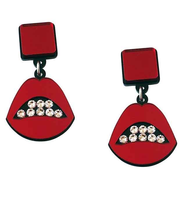 ярко-красные серьги Sealed With a Kiss Red от Jennifer Loiselle в Shopping Guide август 2015