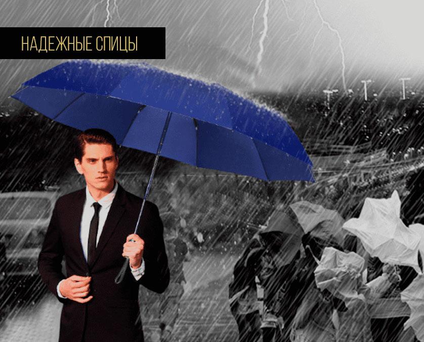 Складной зонт синий премиум   ZC Niello Premium
