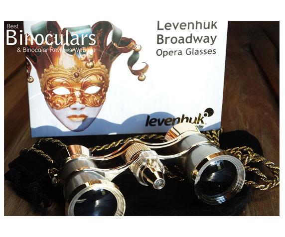 Бинокль Levenhuk Broadway 325F с подсветкой и цепочкой, серебряный: коробка