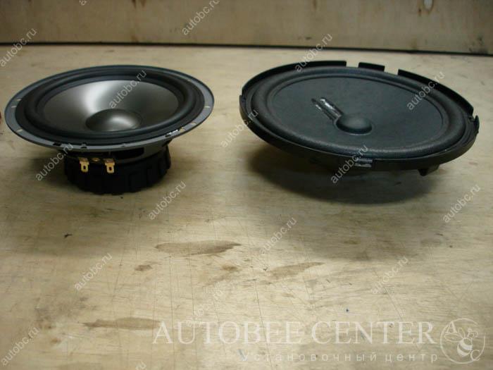 DD cs6.5 и штатная акустика с ауди Q7