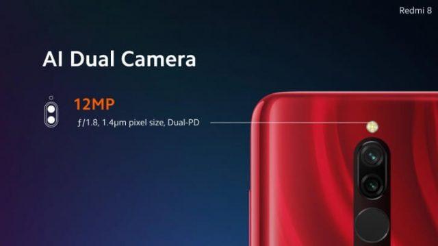 Смартфон Xiaomi Redmi 8 основная камера