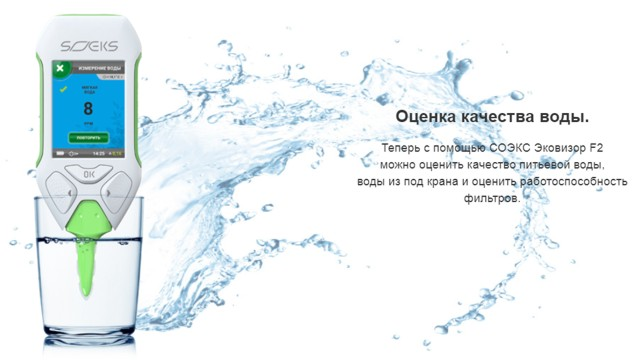 Процесс измерения качества воды