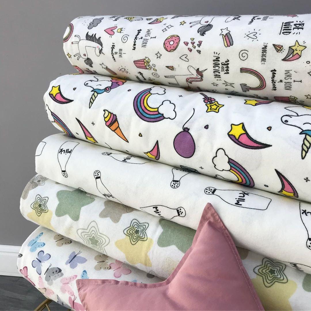 Купить детскую ткань фланель с красивыми принтами