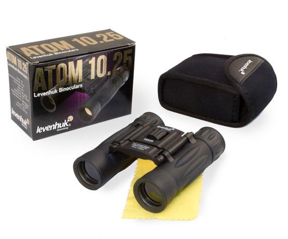 Бинокль Levenhuk Atom 10x25: комплект поставки