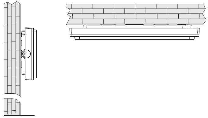 Варианты монтажа для аварийного эвакуационного светильника на светодиодах серии Ticinque LED