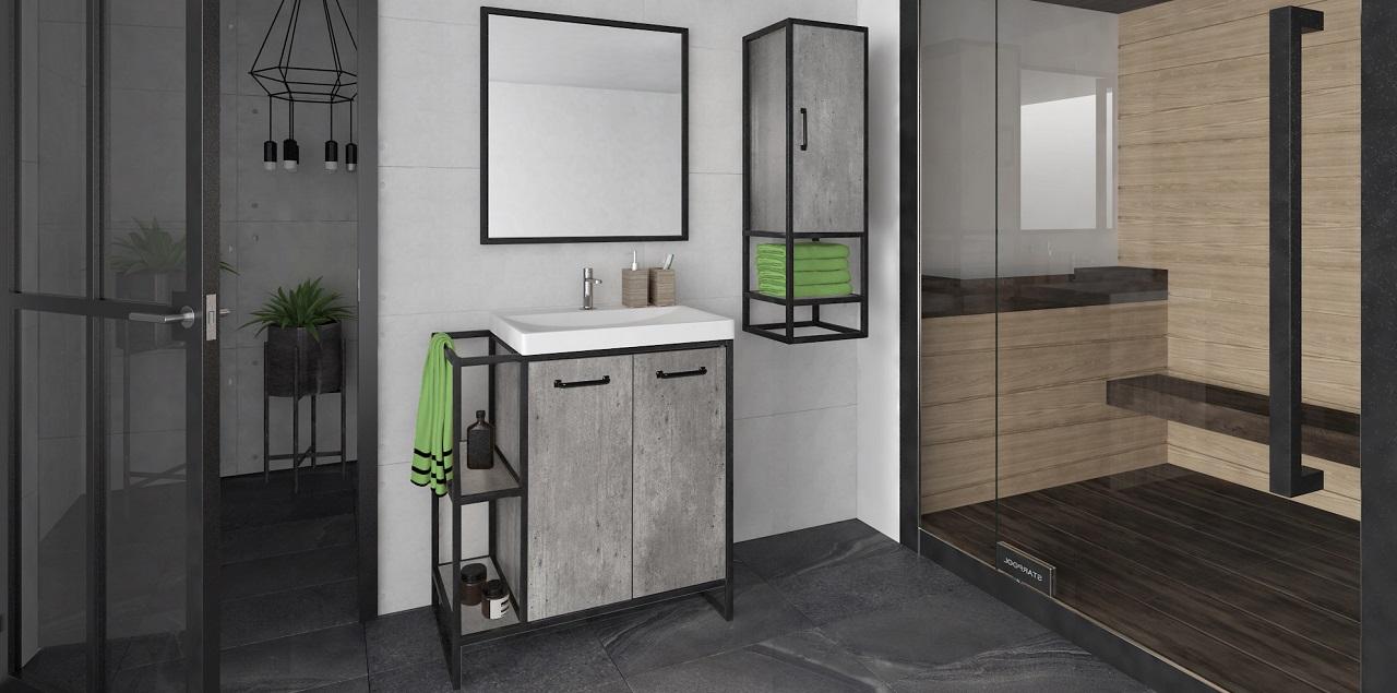 Металлическая мебель для ванной