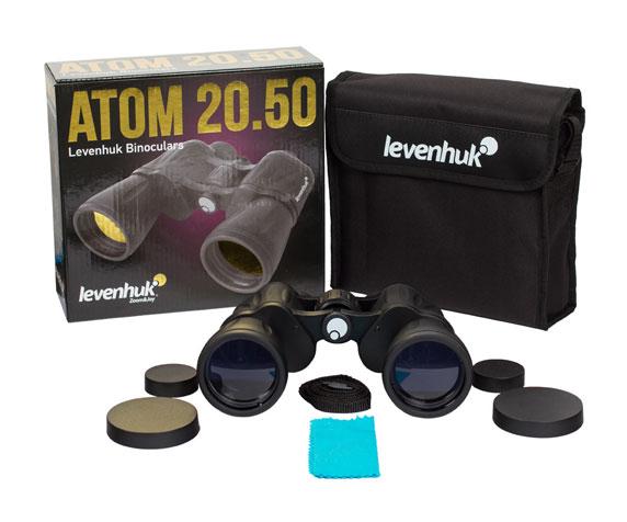 Бинокль Levenhuk Atom 20x50: комплект поставки