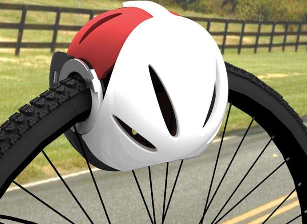 Велошлем як блокіратор колеса