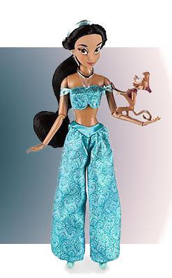 Кукла Жасмин с обезьянкой Абу в наборе