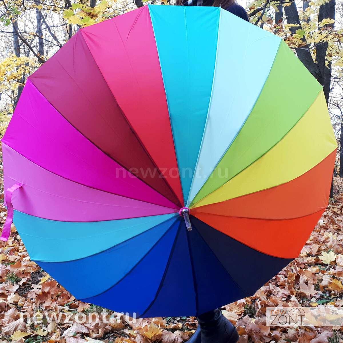 Зонтик радуга 16 цветов в парке
