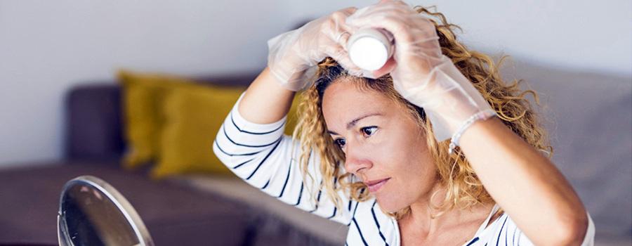 Смыть краску для волос