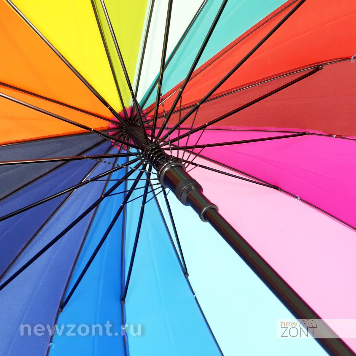 Купол зонта радуги изнутри
