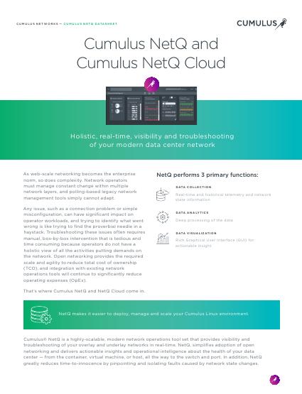 Cumulus NetQ Datasheet