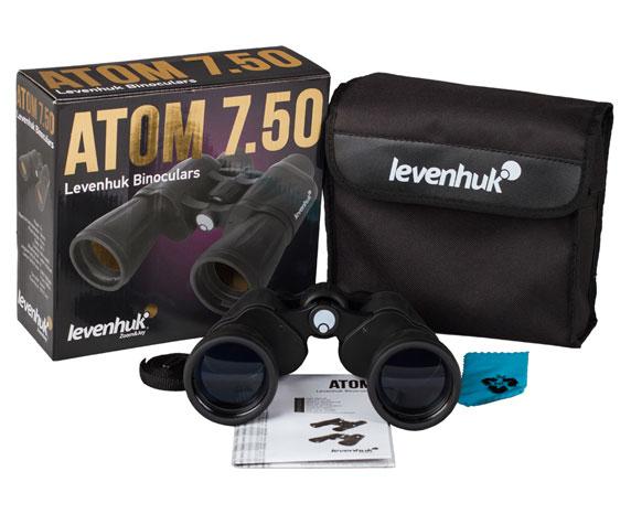 Бинокль Levenhuk Atom 7x50: комплект поставки