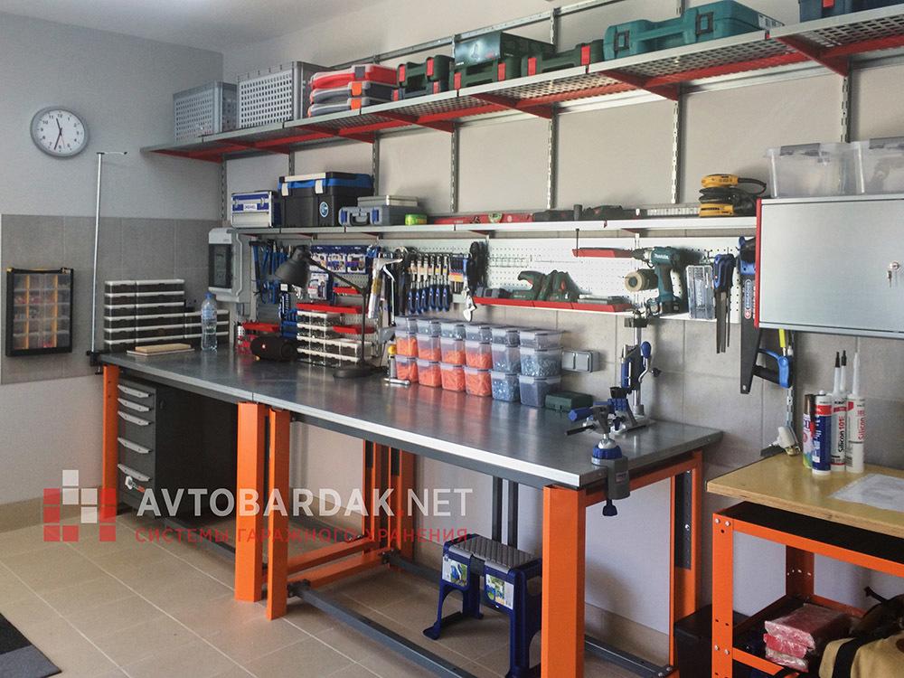 Обустройство гаража и мастерской внутри