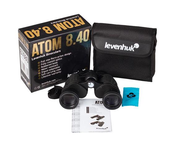 Бинокль Levenhuk Atom 8x40: комплект поставки