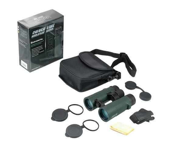 Бинокль Veber Silver Line БН 10x42 WP: комплект поставки