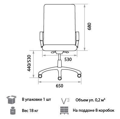 Кресло Дельфо размеры