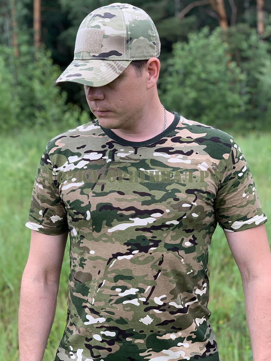 мужская камуфляжная футболка