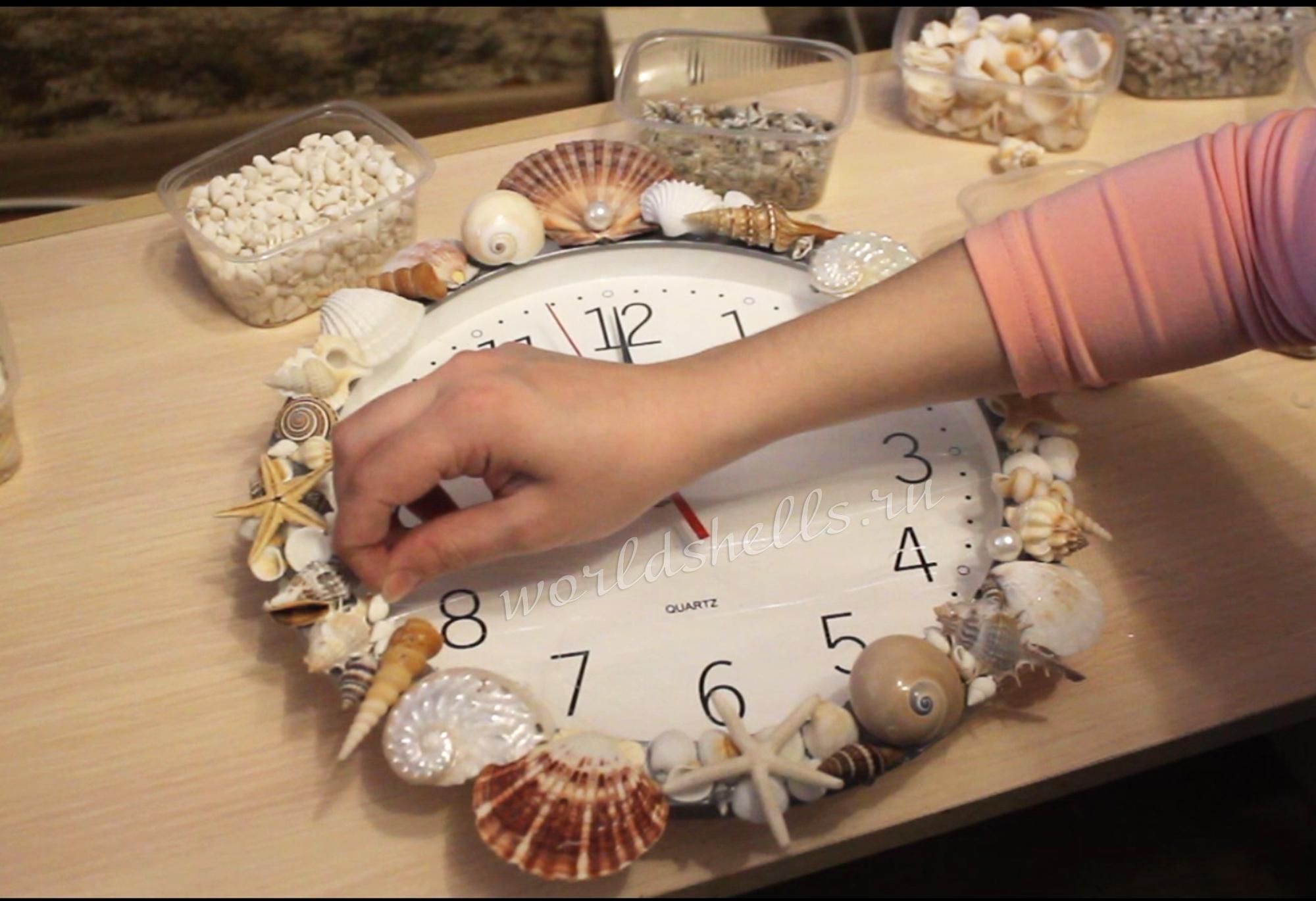 Декор часов  в морском стиле