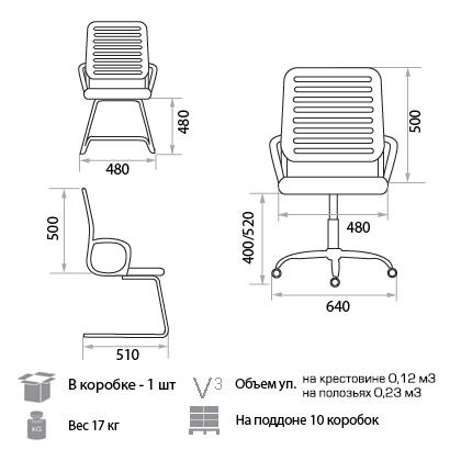 Кресло Рональд размеры