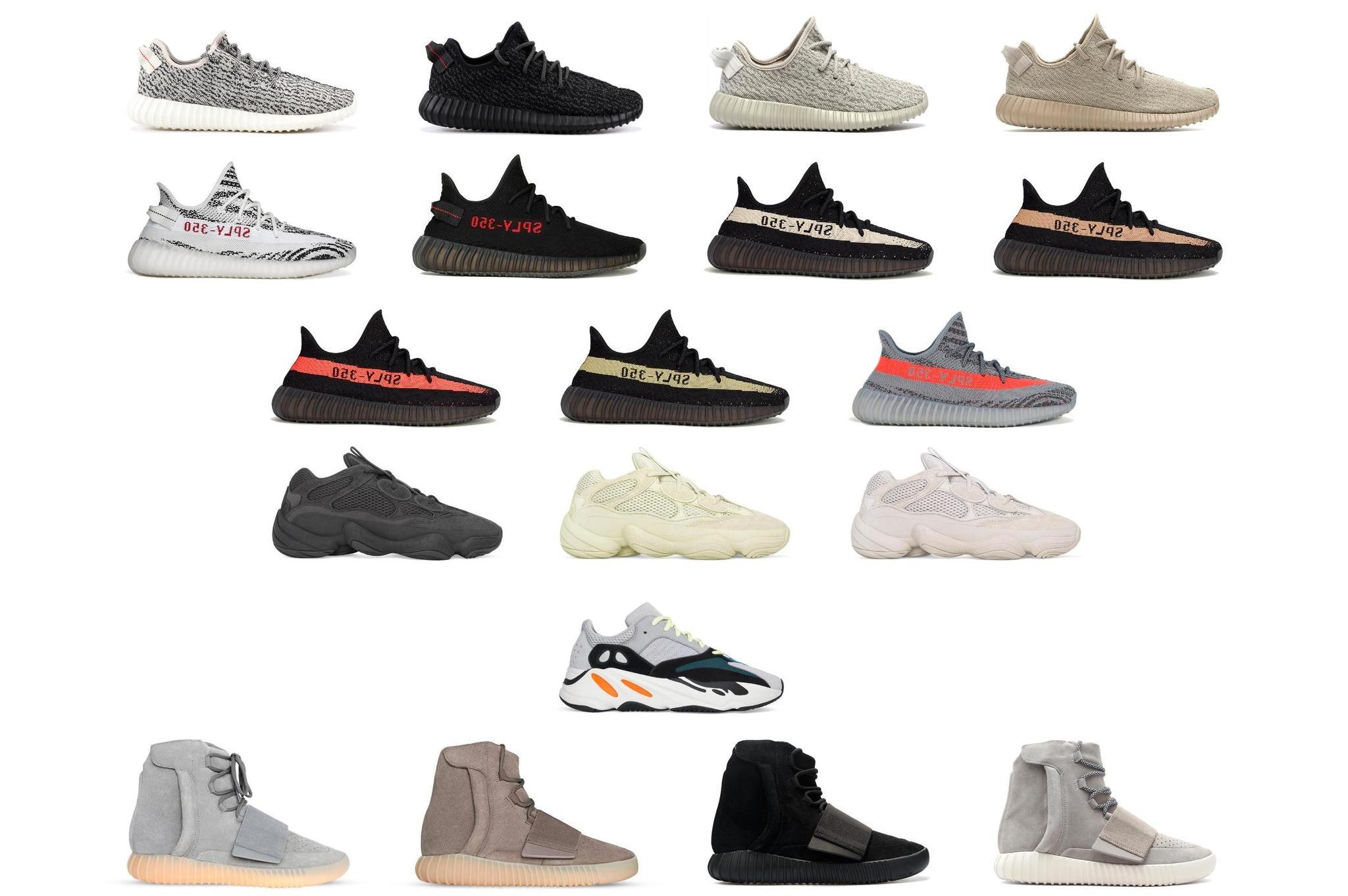 Основные Линейки Adidas Yeezy Boost