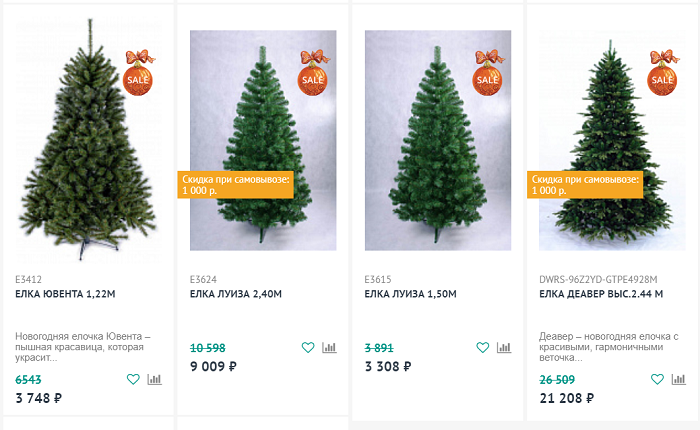 распродажа елок