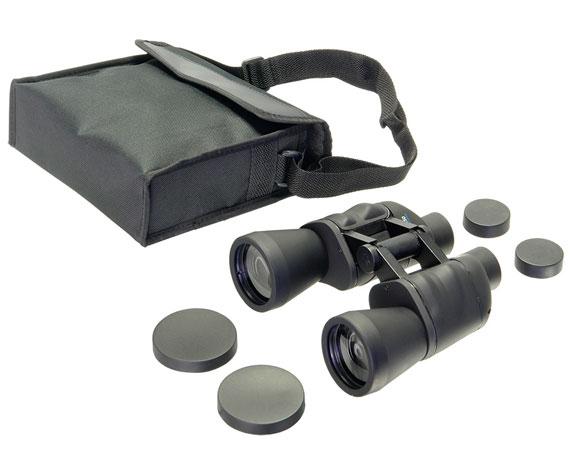 Бинокль Veber Free Focus БПШ 10x50: сумка, крышки объективов и окуляров