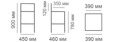 Габаритные размеры барного стул Дебют-Н
