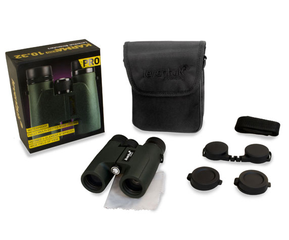 Бинокль Levenhuk Karma Pro 10x32: комплект поставки