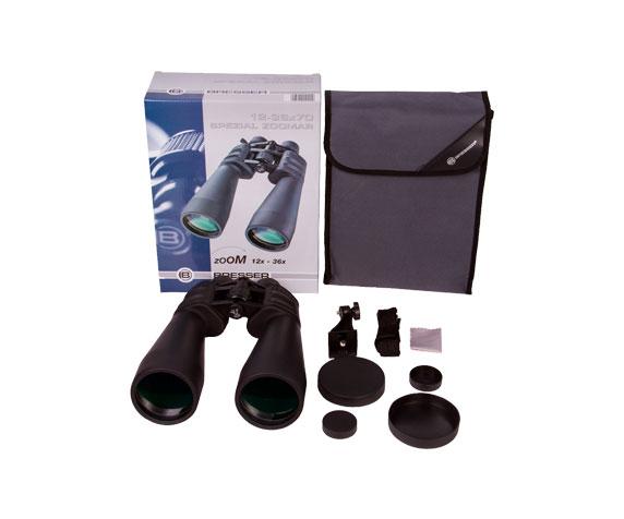 Бинокль Bresser Spezial Zoomar 12-36x70: комплект поставки