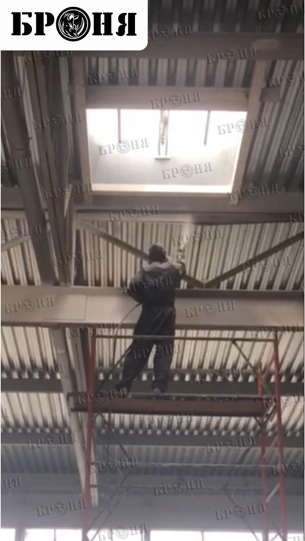 Тольятти. Огнезащита металлических несущих конструкций автосалона