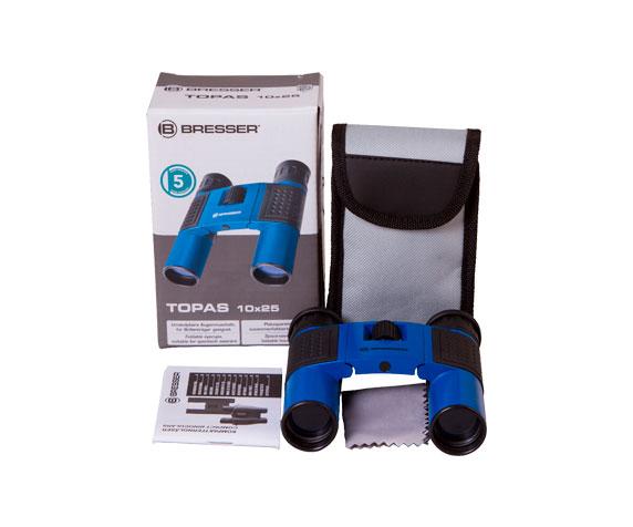 Бинокль Bresser Topas 10x25 Blue: комплект поставки