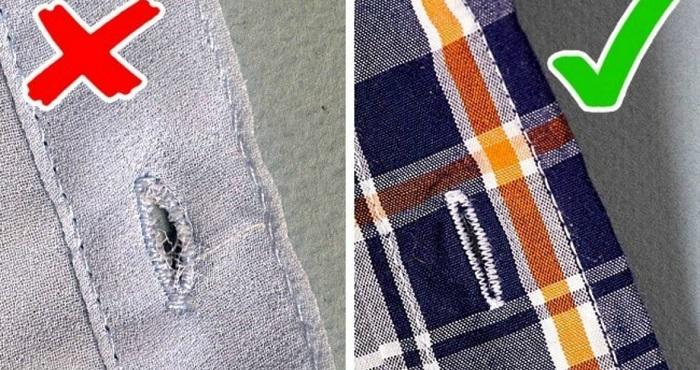 Некачественный пошив одежды