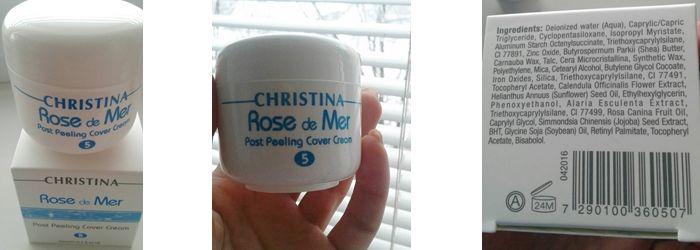 Фотообзор на постпилинговый тональный крем Christina Rose De Mer