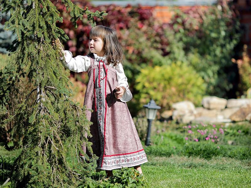 выкройки русских сарафанов для девочек