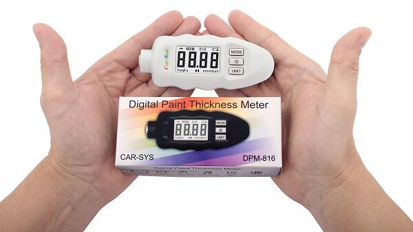 Сравнительные габариты толщиномера ЛКП Carsys DPM816 lite