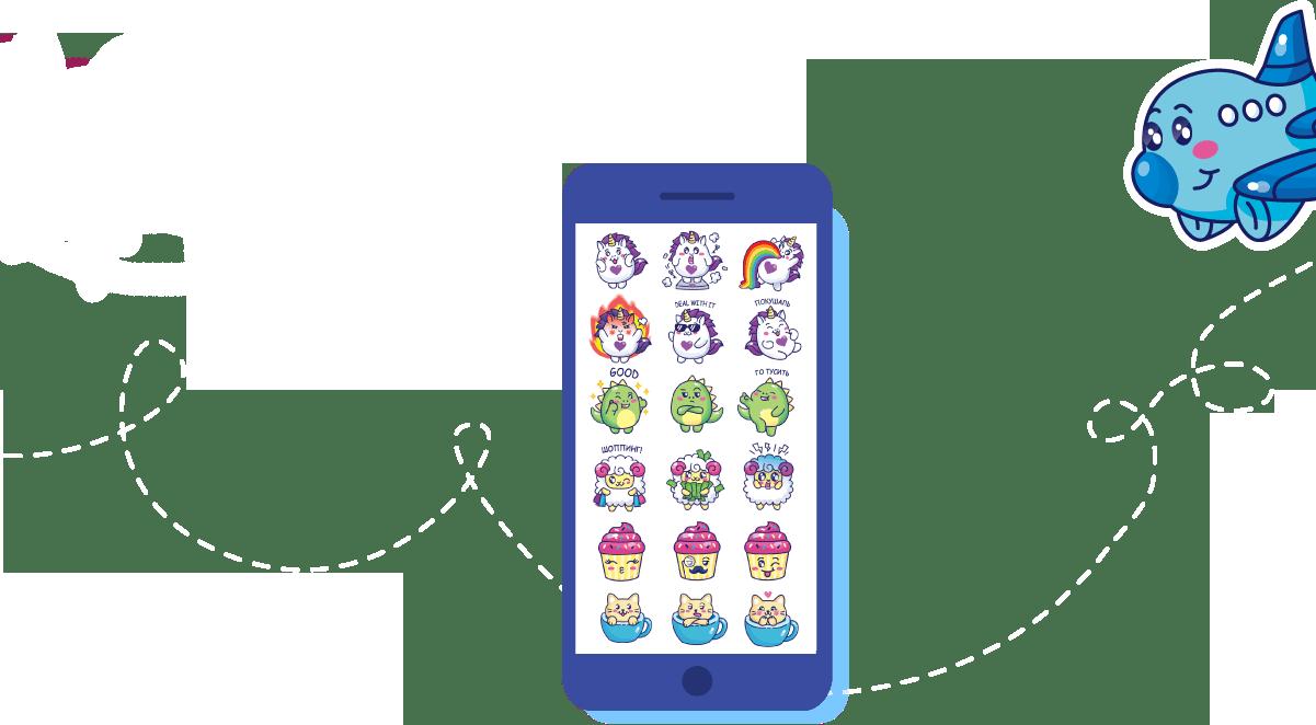 Набор стикеров для Iphone