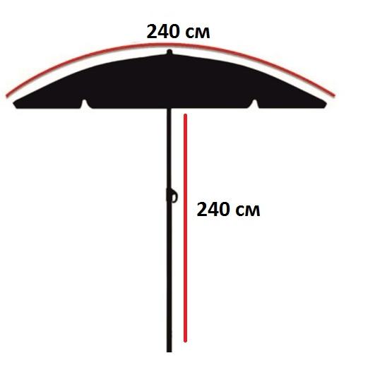 Зонт карповый с тентом  для рыбалки Nisus N-240-TP